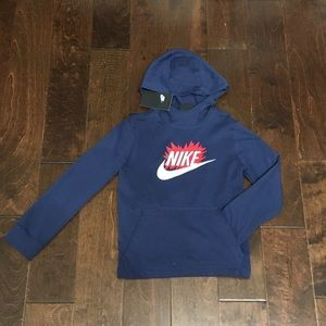 Boy's Nike NSW Jersey Pullover Hoodie Shirt, NWT